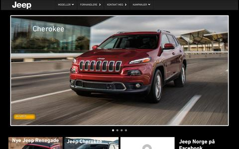 Screenshot of Home Page jeep.no - Jeep.no - captured Sept. 10, 2015