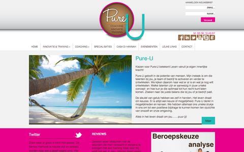 Screenshot of Home Page pure-u.nl - Pure-U - captured Sept. 30, 2014