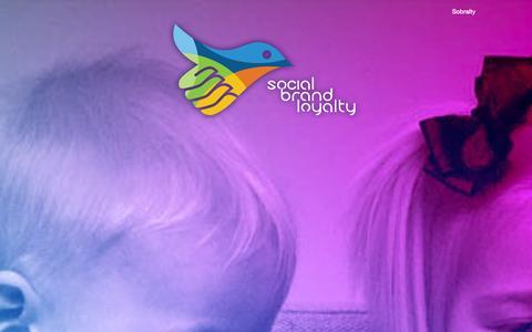Screenshot of Home Page socialbrandloyalty.com - Social Brand Loyalty - captured Sept. 30, 2014