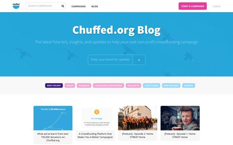 Chuffed.org Blog