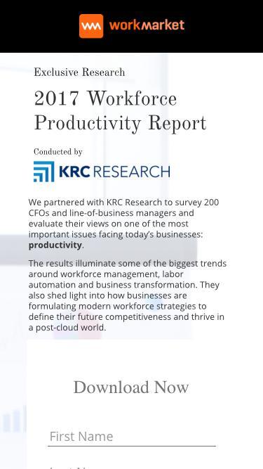 Exclusive Report: 2017 Workforce Productivity Report
