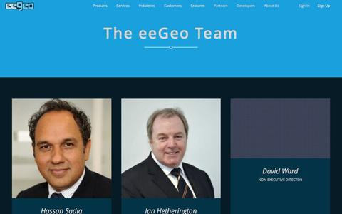 Screenshot of Team Page eegeo.com - Team - eeGeo - captured Dec. 4, 2015