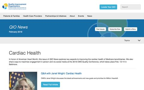Screenshot of Press Page qioprogram.org - February 2018 | Quality Improvement Organizations - captured Feb. 20, 2018