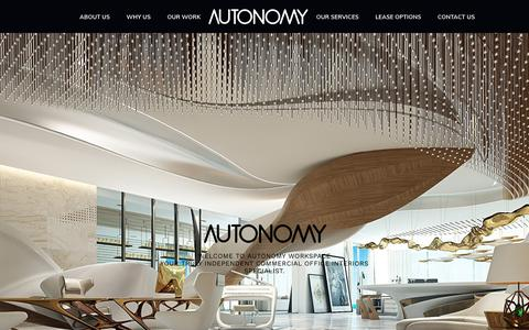 Screenshot of Home Page autonomyworkspace.com - Autonomy Workspace - Commercial Office Interiors - captured Nov. 13, 2018