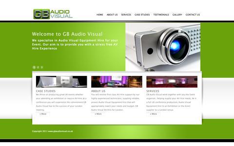 Screenshot of Home Page gbaudiovisual.co.uk - Audio Visual Equipment Hire - AV Rental Services - GB AudioVisual, Croydon, London, UK - captured Sept. 26, 2014
