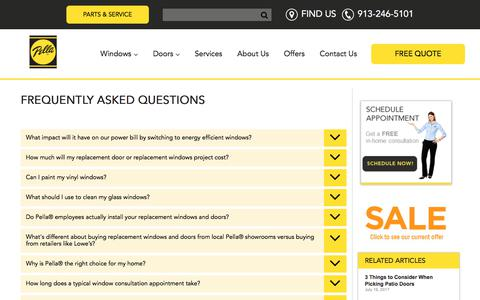 Screenshot of FAQ Page pellakc.com - Window and Door FAQs | Pella Kansas City, KS - captured July 20, 2017
