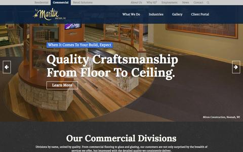 Screenshot of Site Map Page hjmartin.com - HJ Martin & Son - Commercial Interiors & Flooring Contractor - captured Oct. 27, 2014