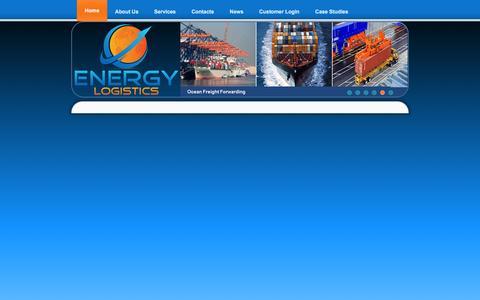Screenshot of Home Page energylogistics-iq.com - ENERGY LOGISTICS – IRAQ - captured Jan. 29, 2016