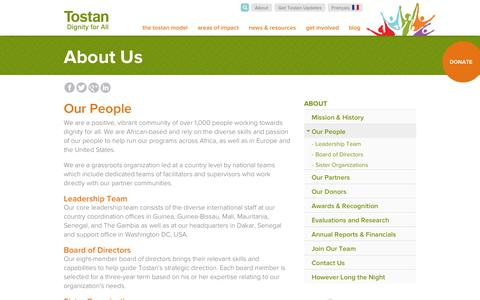 Screenshot of Team Page tostan.org - Our People | Tostan - captured Oct. 7, 2014