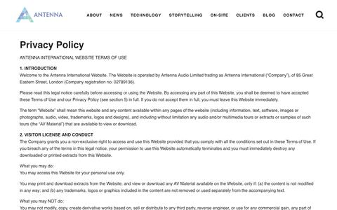 Privacy Policy - Antenna International
