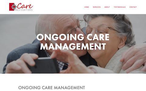Screenshot of Team Page care-navigators.com - Ongoing Care Management — CARE NAVIGATORS, INC. - captured May 14, 2017