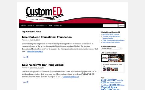 Screenshot of Press Page customed.org - CustomED - captured July 19, 2016
