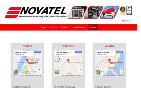 Screenshot of Contact Page novateldigital.com - Contact - Novatel - captured Dec. 16, 2016