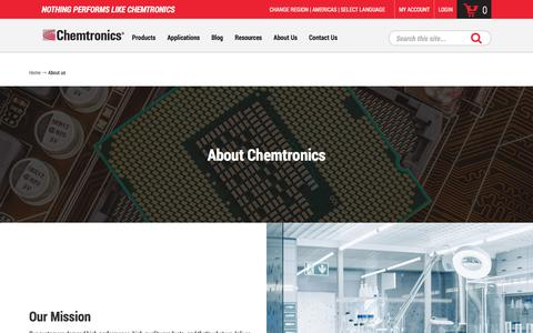 Screenshot of About Page chemtronics.com - About Chemtronics -Electronics  maintenance and repair products | Chemtronics - captured Jan. 9, 2020