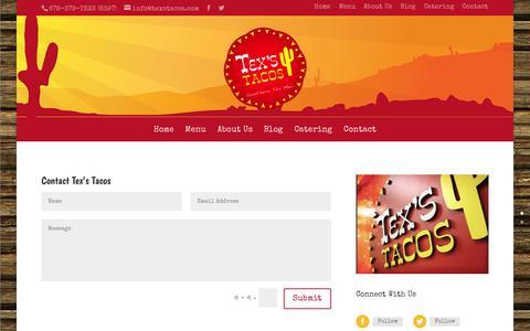 Screenshot of Contact Page texstacos.com - Contact | Tex's Tacos - captured Nov. 5, 2014