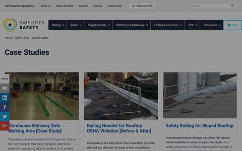 Screenshot of Case Studies Page simplifiedsafety.com - Case Studies - Safety Blog - captured July 20, 2019