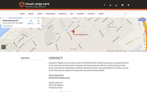 Screenshot of Contact Page visualcargocare.com - Contact - Visual Cargo Care - captured Jan. 11, 2016