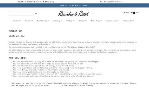 Screenshot of About Page bourbonandboots.com - About Us – Bourbon & Boots - captured Jan. 19, 2016