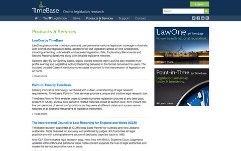 Screenshot of Products Page timebase.com.au - TimeBase - Products & Services - captured June 17, 2017