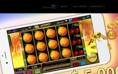 Screenshot of Home Page About Page color-logic.eu - Color Logic Gaming Ltd. - Slot Games - captured Sept. 28, 2018