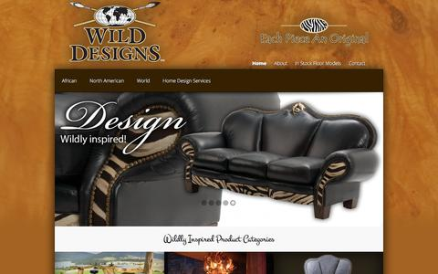 Screenshot of Home Page wildesigns.net - Wild Designs | Each Piece is a hand crafted Original - captured July 1, 2018