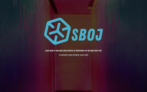 Screenshot of Home Page sboj.com - SBOJ - captured Oct. 1, 2018