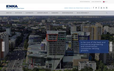 Screenshot of Home Page enka.com - ENKA İnşaat ve Sanayi A.Ş – Resmi Sitesi | Resmi Websitesi - captured Feb. 18, 2016