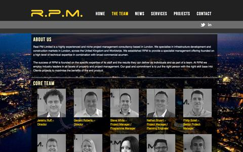 Screenshot of About Page realpm.co.uk - The Team | RPM - captured Dec. 15, 2015