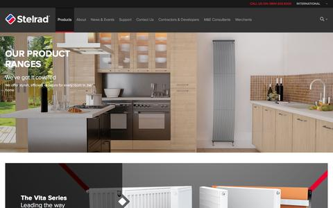 Screenshot of Products Page stelrad.com - Radiators | Horizontal Radiators | Vertical Radiators | Stelrad - captured Nov. 4, 2014