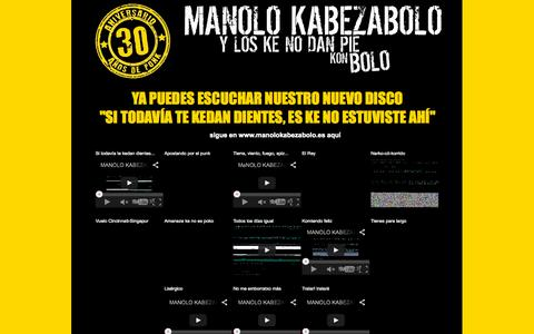 Screenshot of Home Page manolokabezabolo.es - Página oficial de MKB y los ke no dan pie kon bolo - captured Sept. 29, 2015
