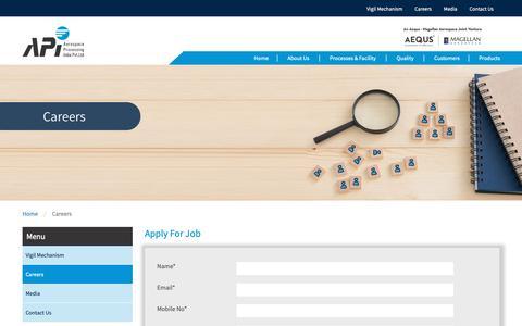 Screenshot of Jobs Page api-in.com - Careers – Aequs   API - captured Dec. 18, 2018