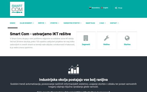 Screenshot of Home Page smart-com.si - Smart Com- Vodilni graditelj IKT rešitev - captured Oct. 18, 2018