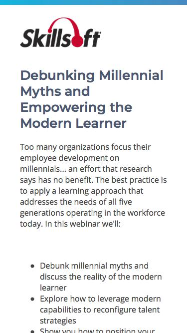 Debunking Millennial Myths and Empowering the Modern Learner