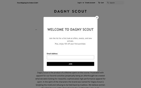 Screenshot of About Page dagnyscout.com - About Us - Dagny Scout - Golf Fashion - captured Nov. 6, 2018