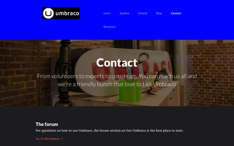 Screenshot of Contact Page colchesterdigital.co.uk - Contact | Fanoe - Umbraco Starter Kit - captured March 7, 2016
