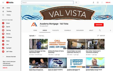 Academy Mortgage - Val Vista - YouTube