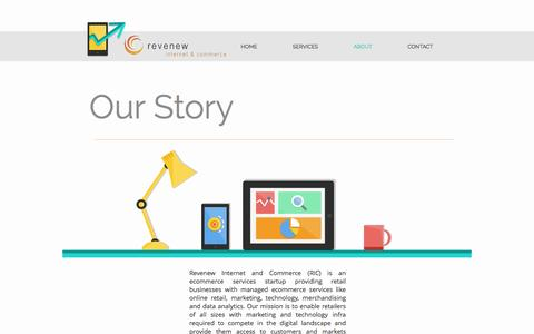 Screenshot of About Page revenew.in - Revenew Internet and Commerce - Ecommerce Services Consulting | ABOUT - captured Dec. 17, 2016