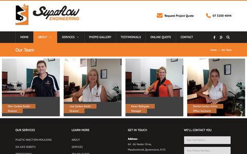 Screenshot of Team Page supaflow.com.au - Our Team | Plastic Injection Moulding & Tooling Brisbane - captured Feb. 17, 2016