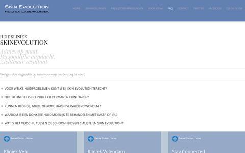 Screenshot of FAQ Page skinevolution.nl - Veel gestelde vragen - captured Dec. 21, 2015