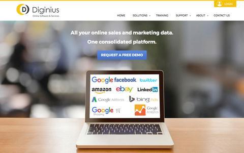 Screenshot of Home Page diginius.com - Diginius | Online Software & Services - captured Jan. 7, 2016