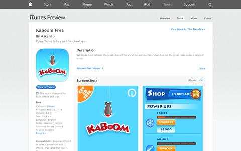 Screenshot of iOS App Page apple.com - Kaboom Free on the App Store on iTunes - captured Oct. 27, 2014
