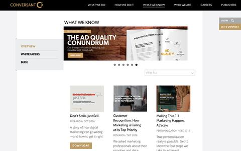 Digital Marketing Insights & Ideas  | Conversant