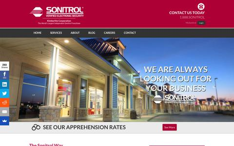Screenshot of Home Page sonitrolsecurity.com - Sonitrol Security - captured Sept. 20, 2018