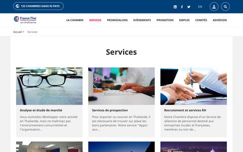 Screenshot of Services Page francothaicc.com - Services | Franco-thaï Chamber of commerce - captured Dec. 19, 2018