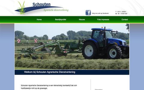 Screenshot of Home Page schoutenadv.nl - Schouten Agrarische dienstverlening    |    Index - captured Feb. 4, 2016