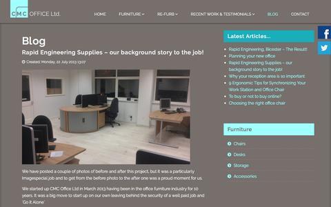 Screenshot of Blog cmcofficeltd.co.uk - Blog - captured Jan. 23, 2016