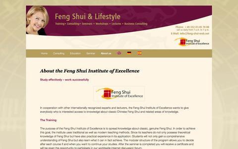 Screenshot of About Page feng-shui-web.net - Feng Shui Institute of Excellence   Feng Shui Ausbildung und Beratung - captured June 11, 2016