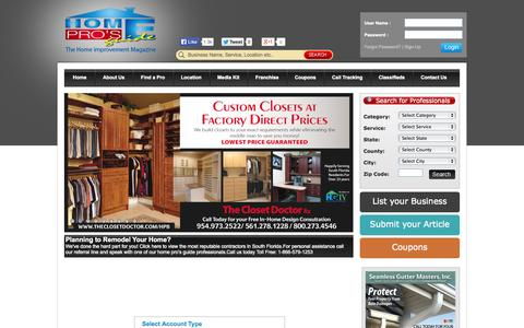 Screenshot of Signup Page homeprosguide.com - Home Pros Guide | Home Improvement Magazine & Advertising - captured Sept. 30, 2014