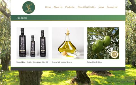 Screenshot of Products Page thegreekoliveestate.com - Products - The Greek Olive Estate - captured Oct. 29, 2014