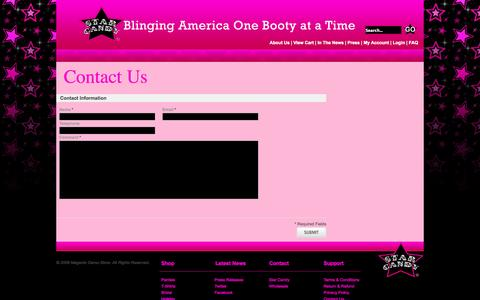 Screenshot of Contact Page starcandyboutique.com - Magento Commerce - captured Oct. 6, 2014